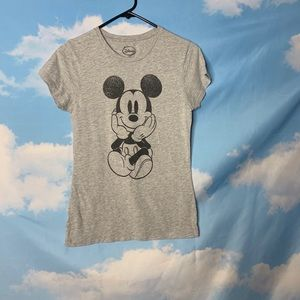 Disney- Mickey Mouse Gray Tee size Large